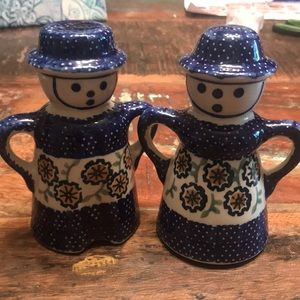 Hand Painted Polish Salt and Pepper Shakers